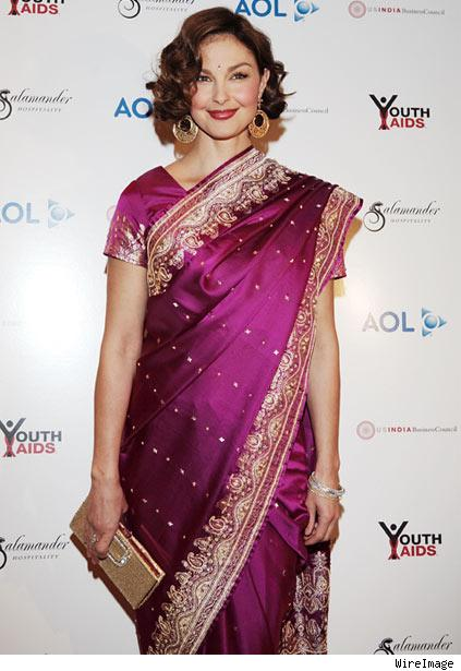 Ashley Judd Beautiful Saree Picture