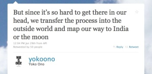Yoko Ono's Tweet
